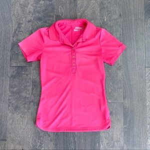 Nike golf hot pink polo